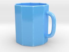 Beer Stein Mug in Gloss Blue Porcelain