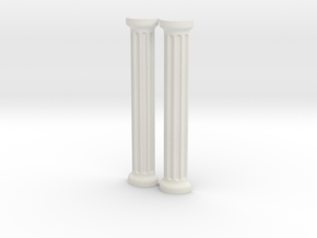 Greek / Roman Column Set in White Natural Versatile Plastic