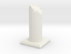 Ruined Pillar in White Natural Versatile Plastic