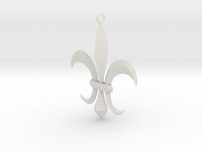 Flor de Lis - Letras in White Natural Versatile Plastic