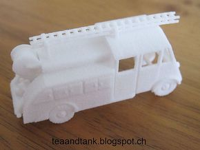 TT (1/120) Renault AHN Fire Truck in White Strong & Flexible