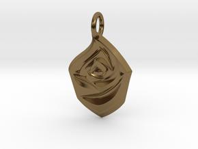 Rose Pendant in Polished Bronze