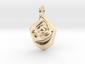 Rose Pendant in 14k Gold Plated Brass