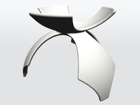 DRAW geo - display stand C - 1p5 inch diameter in White Strong & Flexible