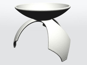 DRAW geo - display stand D - 1p5 Inch Diameter in White Strong & Flexible