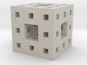 "1"" menger sponge in Natural Sandstone"