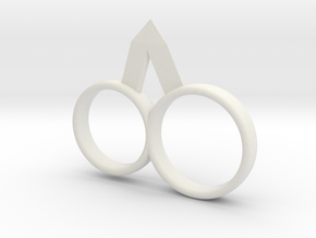 New Spike Ring. in White Natural Versatile Plastic