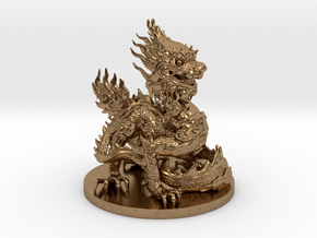 Imperial dragon in Natural Brass