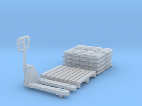 Pallet jack 01. 1:64 Scale  in Frosted Ultra Detail