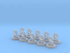 6mm Heavy Lazer Soldiers in Smooth Fine Detail Plastic
