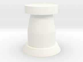 Comms W Stip in White Processed Versatile Plastic