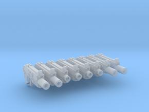 RFB Bullpup Thunderbolt Guns Sample x8 in Smooth Fine Detail Plastic