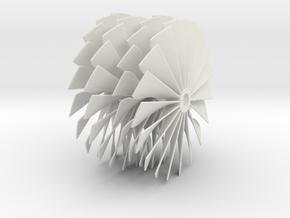 69.5 mm Diameter Turbo Fan SAF in White Natural Versatile Plastic