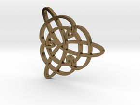 Trefoil Knot Pendant in Polished Bronze