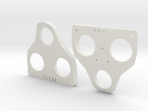 5° Wedges for SPD-SL and Keo in White Natural Versatile Plastic
