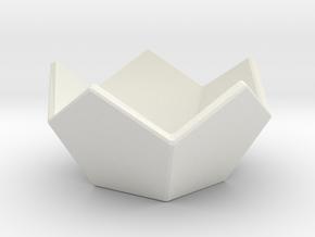Penta-Bowl in White Natural Versatile Plastic
