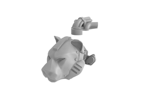 Iron Tiger Head in Smooth Fine Detail Plastic