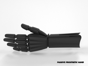 Passive Prosthetic Hand in Black Natural Versatile Plastic