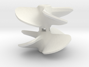 Propeller 18 x 20 4-blades (RH+LH pair) in White Natural Versatile Plastic