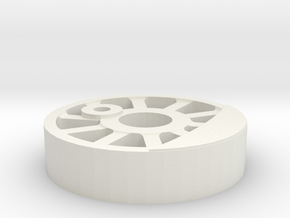 NZ 0-6-0 Peckett Wheel center in White Natural Versatile Plastic