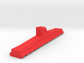 Bottom Rail for AUG Foregrip Attachment (13-Slots) in Red Strong & Flexible Polished