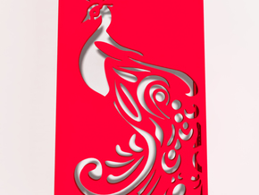 Peacock iphone Case in Red Processed Versatile Plastic
