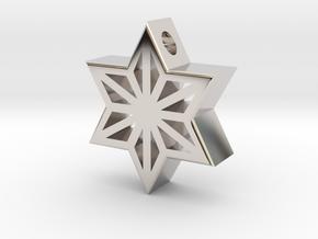 Asa Gara Pendant in Rhodium Plated Brass