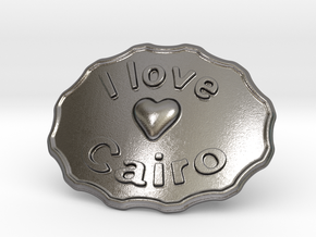 I Love Cairo Belt Buckle in Polished Nickel Steel
