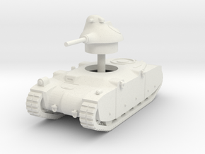1/144 G1R French tank in White Natural Versatile Plastic