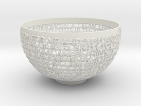 Bowl in White Strong & Flexible