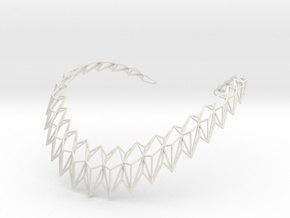 Rhombus Necklace in White Natural Versatile Plastic