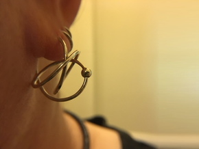 Hoop Knot Earring - Mirror Image in Polished Silver