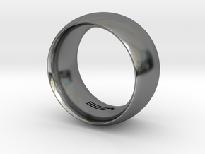 Modern+Convex_Wide in Fine Detail Polished Silver: 12.5 / 67.75