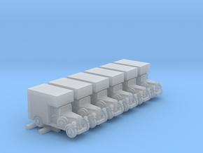 1930s Delivery Truck (6mm, x 6) in Smooth Fine Detail Plastic