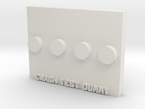 Base Plate for Lego in White Natural Versatile Plastic