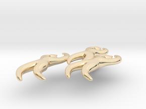 Dan Eldon's 'Dancing Figures' Pendant  in 14k Gold Plated Brass