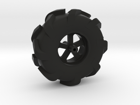 1:10 TRAIL BIKE WHEEL/TIRE in Black Natural Versatile Plastic