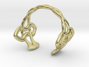 Cuff Bracelet Weave Line B-007 in 18k Gold Plated