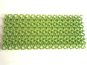 Stitch Fabric in Green Processed Versatile Plastic
