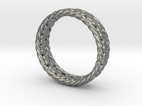 Triskelion Rope Ring Size 8 (US) in Natural Silver