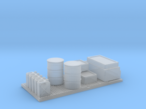 HO Scale Frieght Pallet in Smooth Fine Detail Plastic