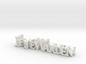 3dWordFlip: Jesse Warden/Monster in White Strong & Flexible