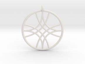Polaris Pendant in White Natural Versatile Plastic