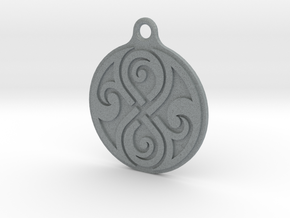 Earring of Rassilon 2cm in Polished Metallic Plastic