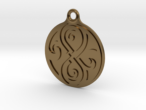 Earring of Rassilon 2cm in Polished Bronze