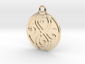 Earring of Rassilon 2cm in 14k Gold Plated Brass