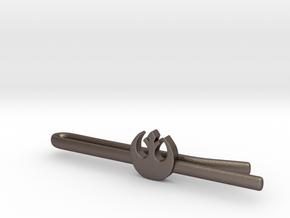 Rebel Alliance tie clip in Polished Bronzed Silver Steel