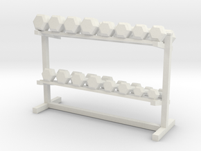 1:48 Free Weight Rack in White Natural Versatile Plastic