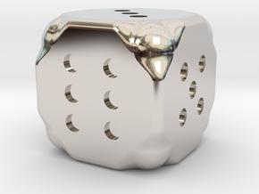 Dice in Rhodium Plated Brass