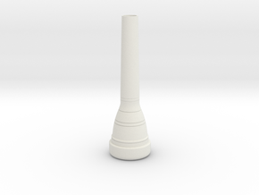 8C4-GP trumpet Mouthpiece in White Strong & Flexible